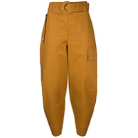 Proenza Schouler White Label Cropped Cargo Trousers - Marrom