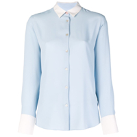 Ps Paul Smith Camisa Mangas Longas De Seda - Azul