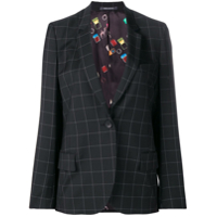 Ps Paul Smith Blazer Com Risca De Giz - Preto