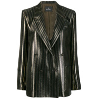 Ps Paul Smith Blazer Listrado Com Glitter - Preto