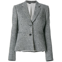 Ps Paul Smith Blazer Slim Com Bordado - Cinza