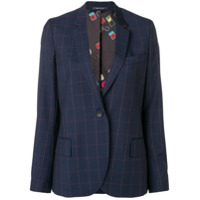 Ps Paul Smith Blazer Xadrez - Azul