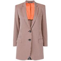 Ps Paul Smith Blazer Xadrez Com Abotoamento - Laranja