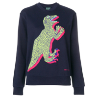 Ps Paul Smith Blusa De Moletom Com Estampa De Dinossauro - Azul