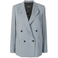 Ps Paul Smith Blazer Xadrez Com Abotoamento Duplo - Azul