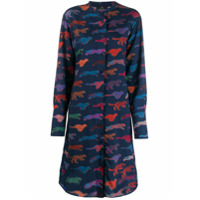 Ps Paul Smith Chemise Animal Print - Azul