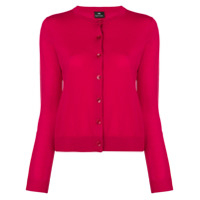 Ps Paul Smith Crew Neck Cardigan - Vermelho