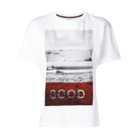 Ps Paul Smith Camiseta Com Estampa De Surfe - Branco