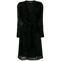 Ps Paul Smith Vestido Canelado - Preto