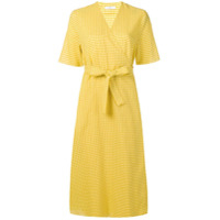 Ps Paul Smith Vestido Com Cinto - Amarelo