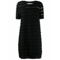 Ps Paul Smith Vestido Com Franjas - Preto