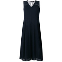 Ps Paul Smith Vestido Com Pregas - Azul