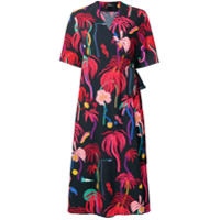 Ps Paul Smith Vestido Estampado - Azul