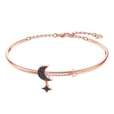 Pulseira Duo Moon, Preto, Metal Rose Gold