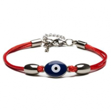 Pulseira Key Design Thin Red Eye Feminina-Feminino