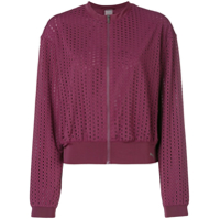 Puma Cut Out Bomber Jacket - Roxo