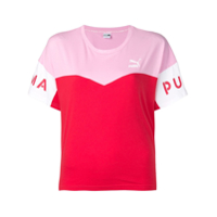 Puma Camiseta Color Block - Rosa