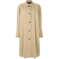 Pushbutton Trench Coat Oversized - Neutro