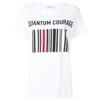 Quantum Courage Camiseta Com Estampa Brocada - Branco