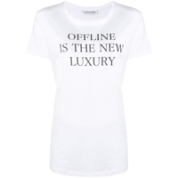 Quantum Courage Camiseta Com Estampa Offline Is The New Luxury - Branco