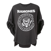 R13 Ramones Rolled-Sleeves T-Shirt - Cinza