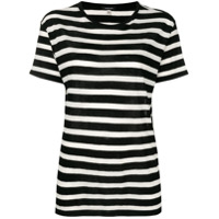 R13 Striped T-Shirt - Preto