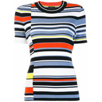 Rag & Bone Camiseta Slim Color Block - Azul