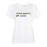 Rag & Bone Camiseta 'your Mouth My Love' - Branco
