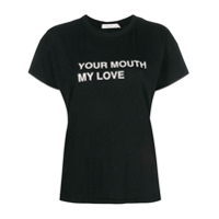 Rag & Bone Camiseta 'your Mouth My Love' - Preto