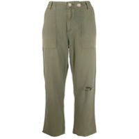 Rag & Bone Cropped Kaye Trousers - Verde