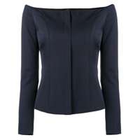 Ralph Lauren Collection Off Shoulder Tailored Top - Azul