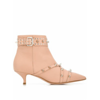 Red Valentino Ankle Boot Com Tachas - Neutro