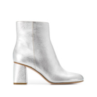 Red Valentino Ankle Boot Metalizada - Prateado