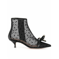Red Valentino Ankle Boot Red(V) Com Póas - Preto