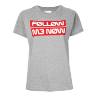 Red Valentino Camiseta Follow Me Now - Cinza