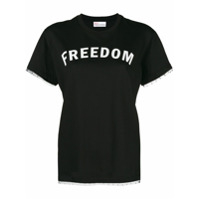 Red Valentino Camiseta 'freedom' - Preto