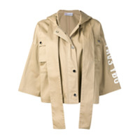 Red Valentino Cropped Military Jacket - Neutro