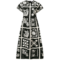Red Valentino Embroidered Dress - Preto