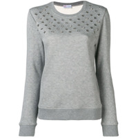 Red Valentino Eyelet Detail Sweater - Cinza