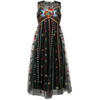 Red Valentino Vestido Love Celebration De Tule - Preto