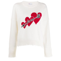Red Valentino Love Hearts Sweater - Branco