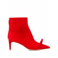 Red Valentino Red(V) Bow-Detail Ankle Boots - Vermelho