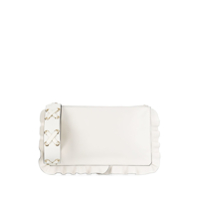 Red Valentino Red(V) Rock Ruffles Clutch - Branco