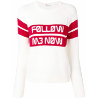 Red Valentino Suéter Follow Me Now Jacquard - Branco