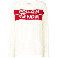Red Valentino Suéter Follow Me Now Jacquard - Neutro