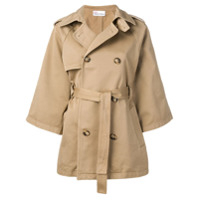 Red Valentino Trench Coat Com Abotoamento Duplo - Neutro