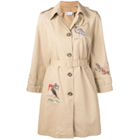 Red Valentino Trench coat com bordado - Neutro