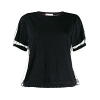 Red Valentino Tulle Layered T-Shirt - Preto