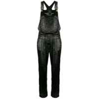 Redemption Shiny Velvet Jumpsuit - Preto