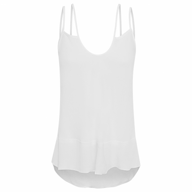 Regata Feminina Alça Lumier - Off White